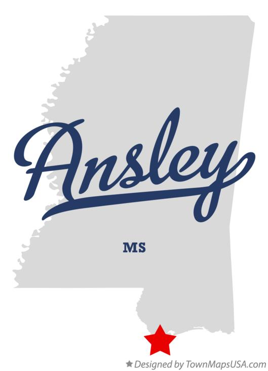 Map of Ansley Mississippi MS