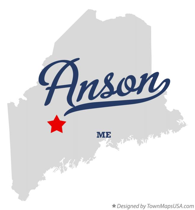 Map of Anson Maine ME