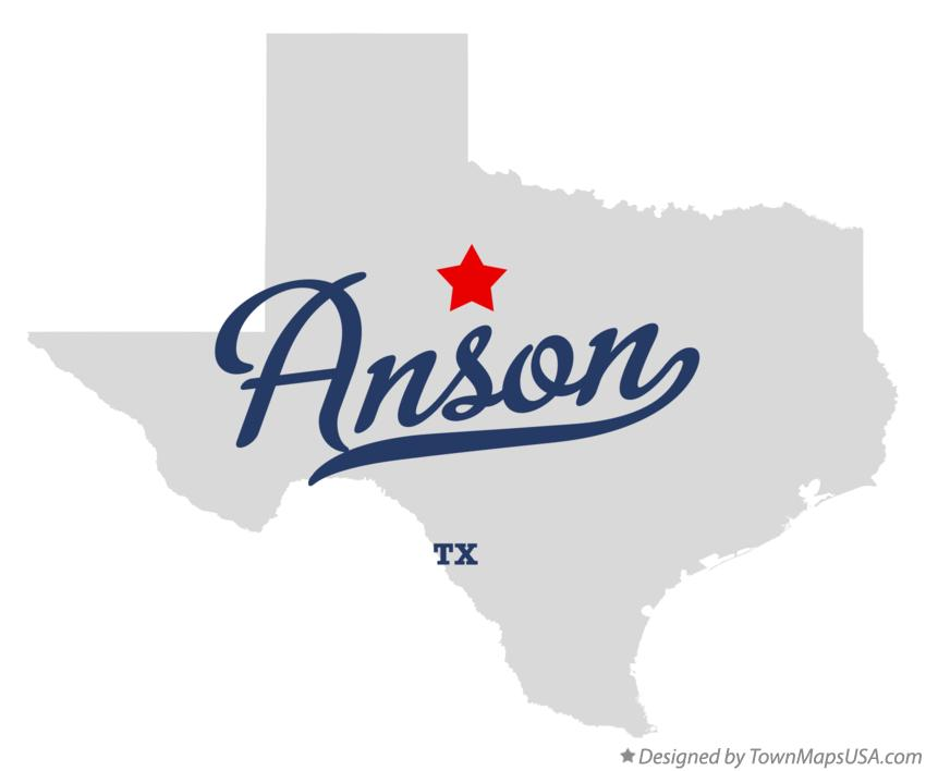 Map of Anson Texas TX