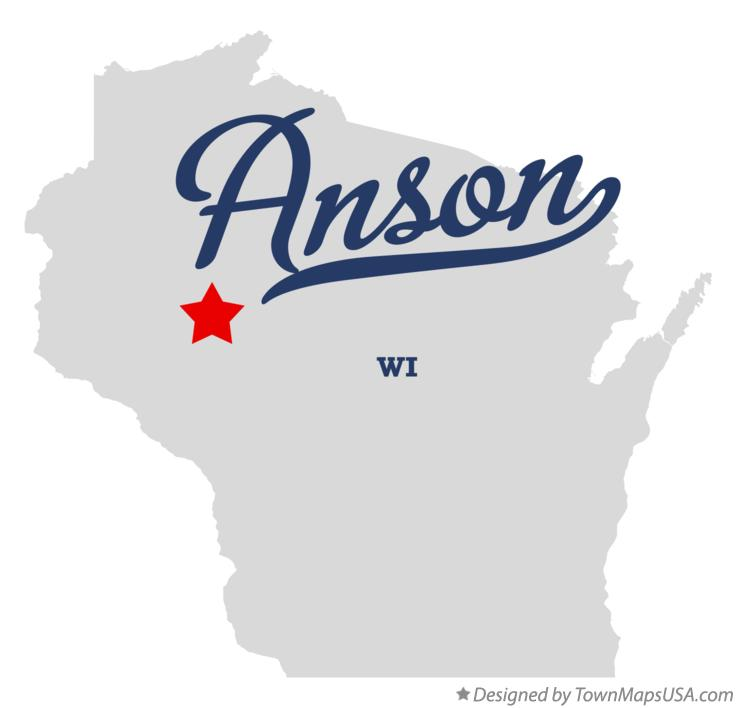 Map of Anson Wisconsin WI