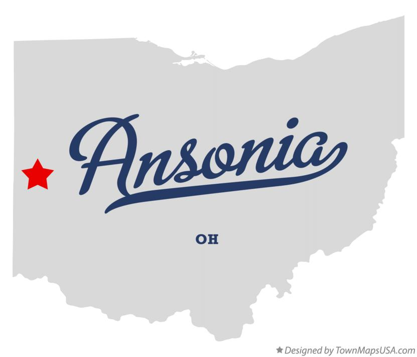Map of Ansonia Ohio OH