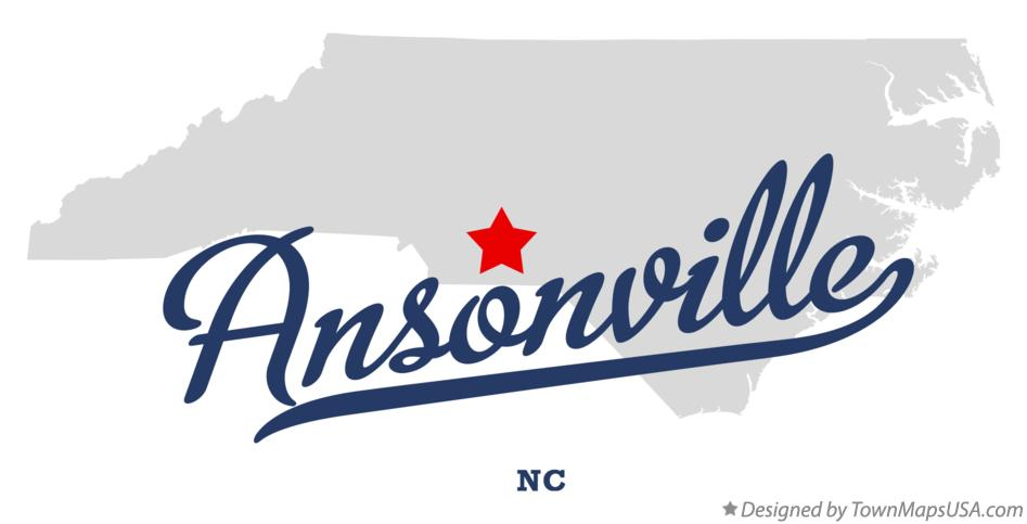 Map of Ansonville North Carolina NC