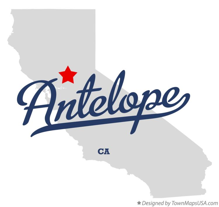 Map of Antelope California CA