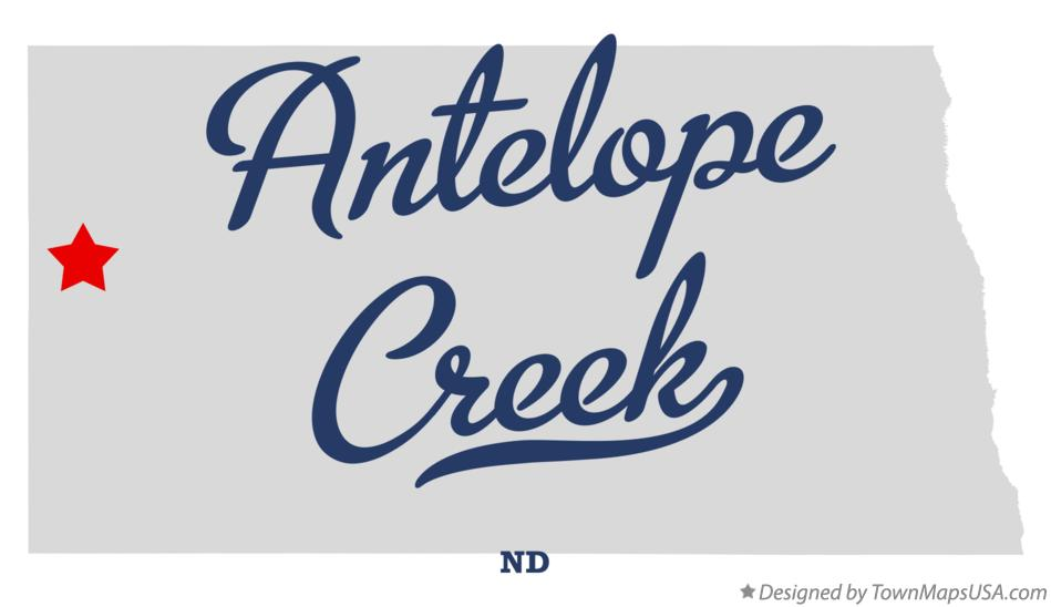 Map of Antelope Creek North Dakota ND