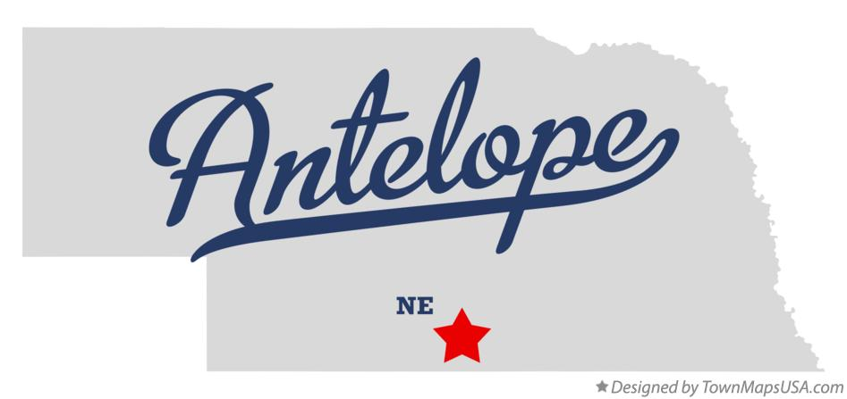 Map of Antelope Nebraska NE