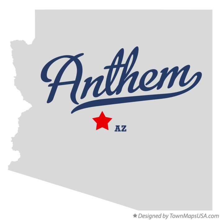 Map of Anthem Arizona AZ