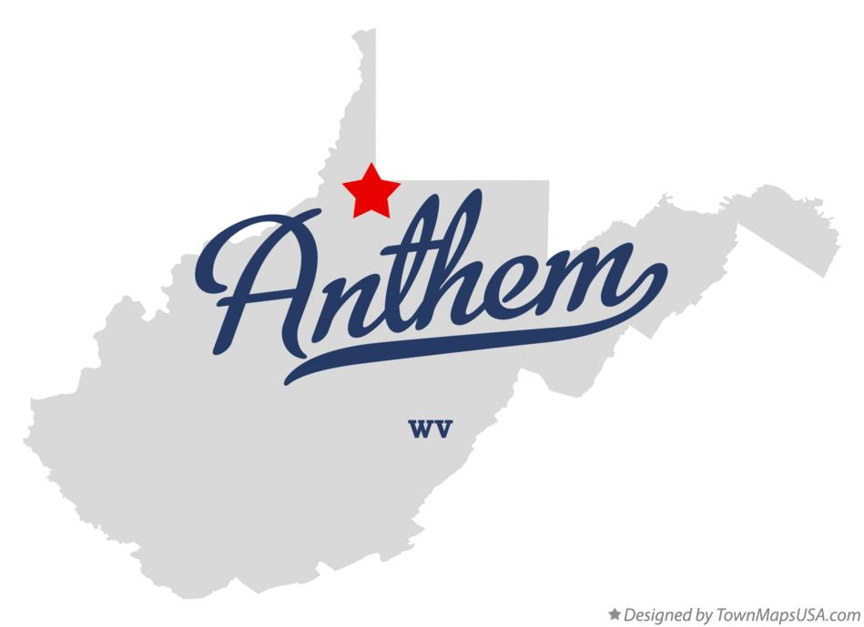 Map of Anthem West Virginia WV