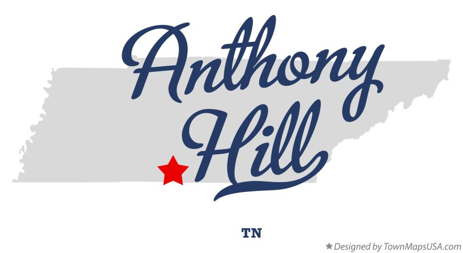 Map of Anthony Hill Tennessee TN
