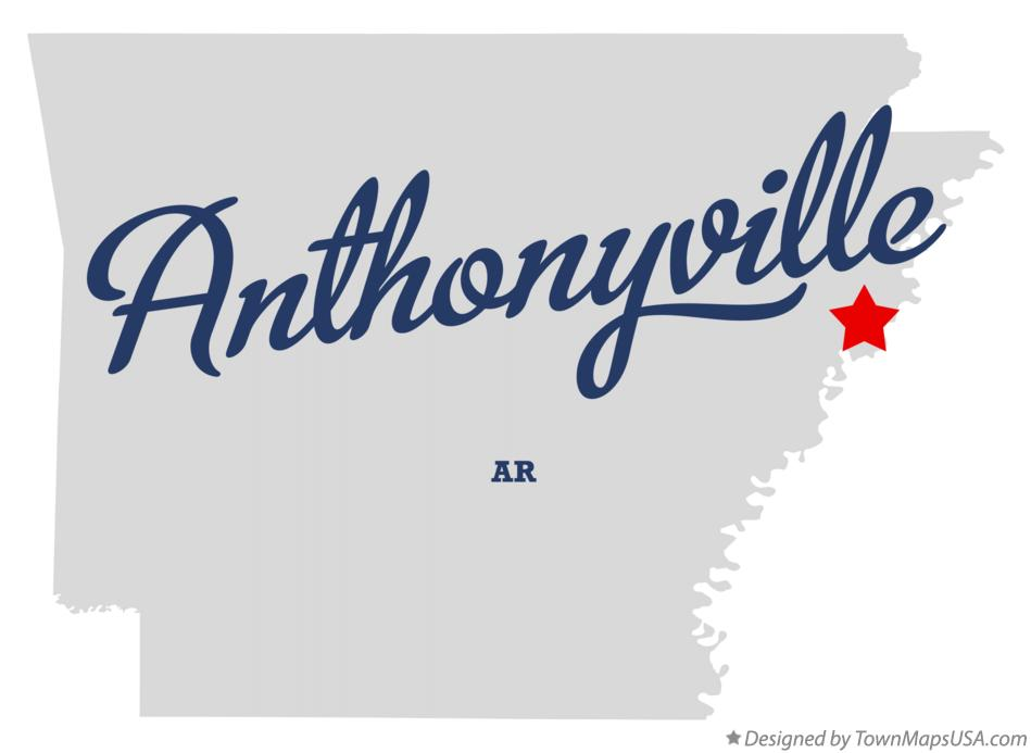 Map of Anthonyville Arkansas AR