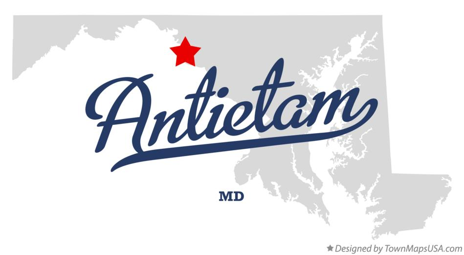 Map of Antietam Maryland MD