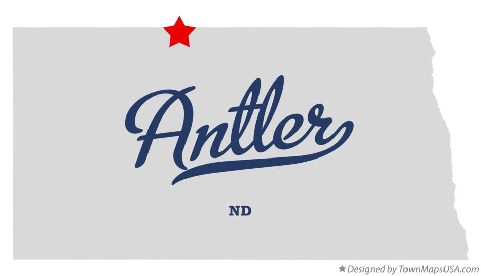 Map of Antler North Dakota ND