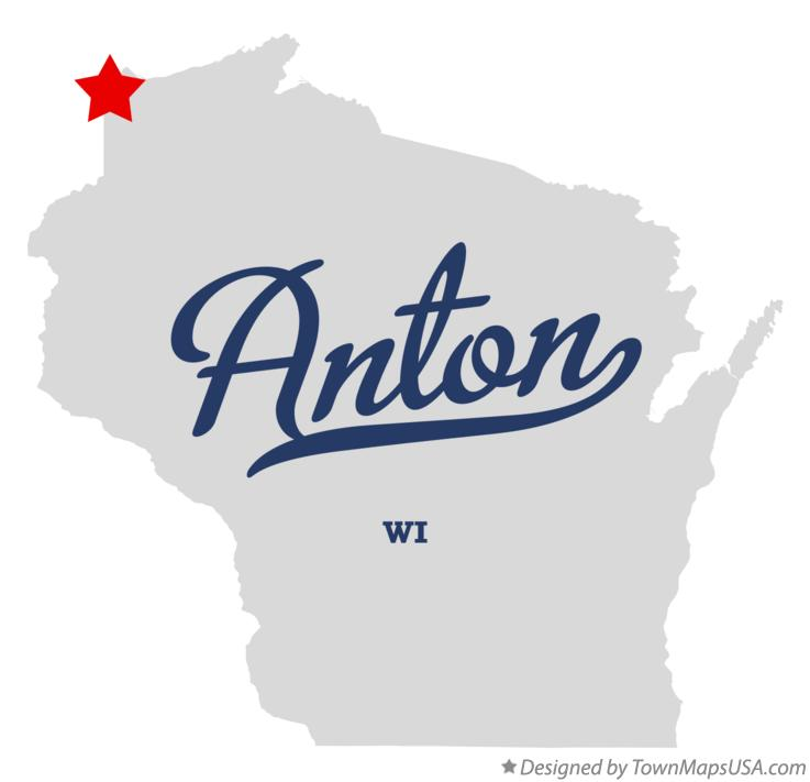 Map of Anton Wisconsin WI