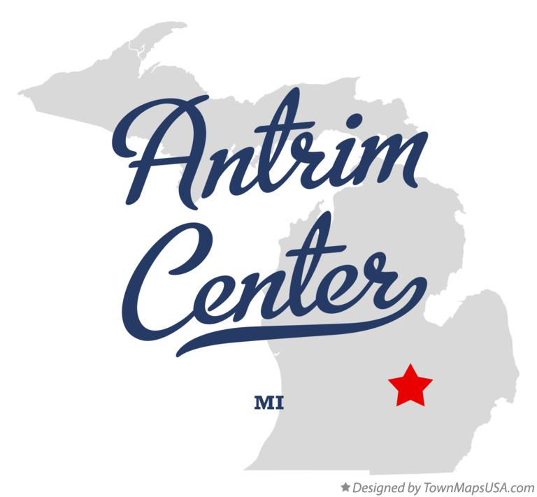 Map of Antrim Center Michigan MI