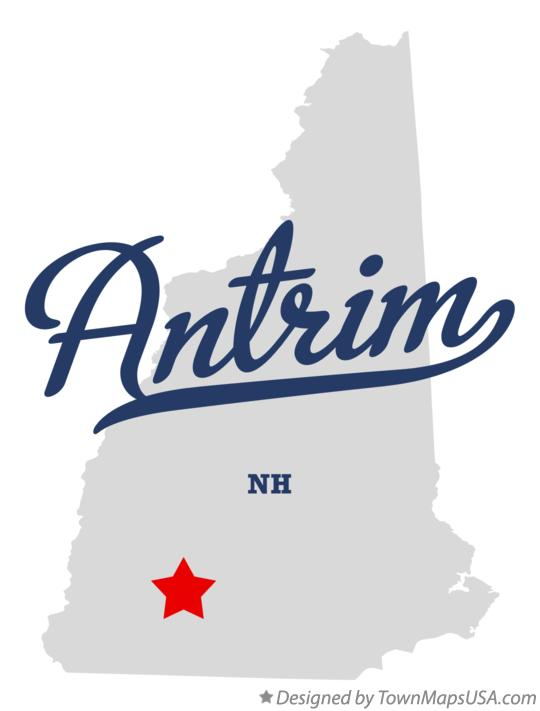 Map of Antrim New Hampshire NH