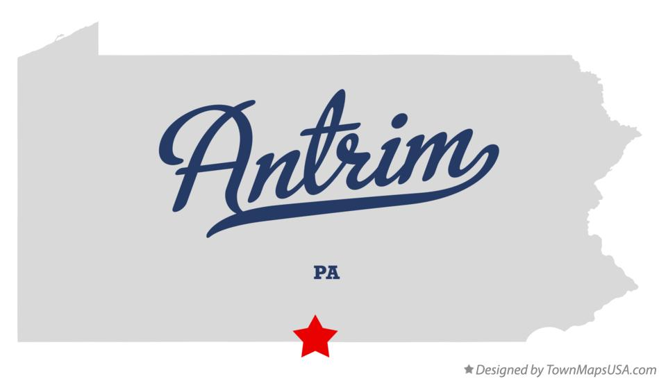 Map of Antrim Pennsylvania PA