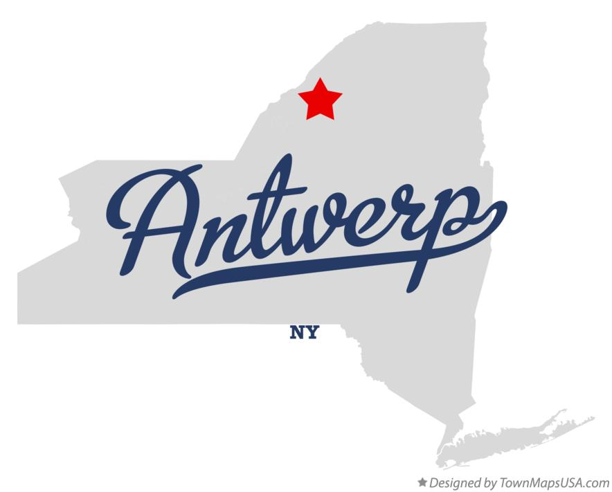 Map of Antwerp New York NY