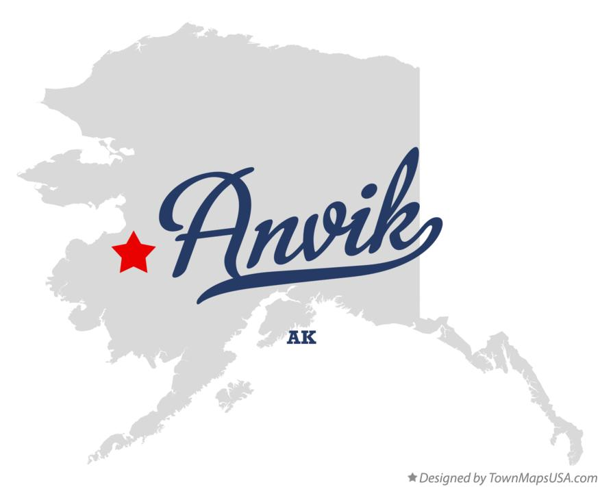 Map of Anvik Alaska AK