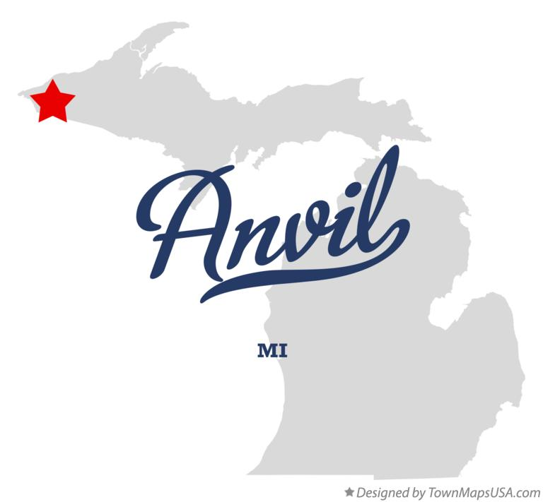 Map of Anvil Michigan MI