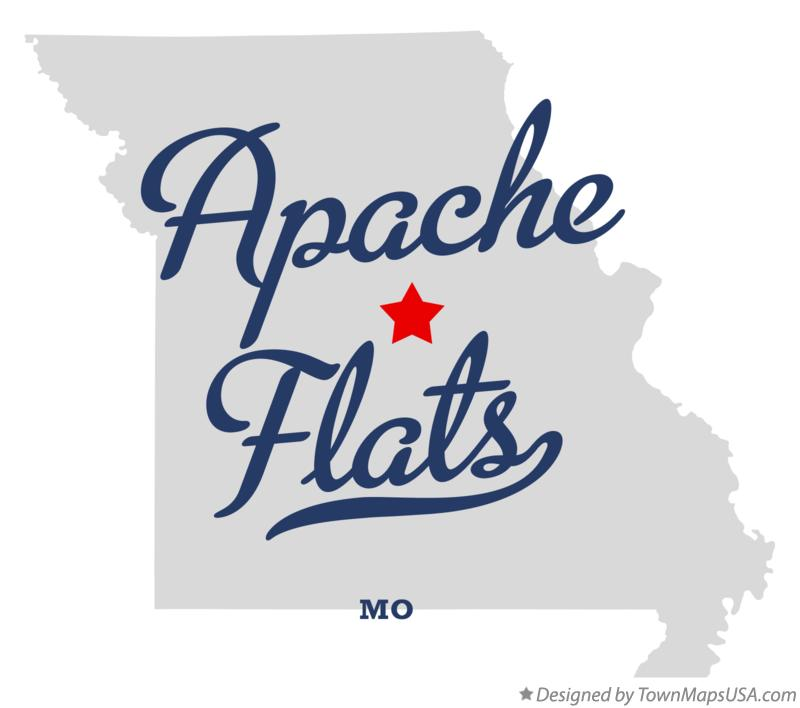 Map of Apache Flats Missouri MO