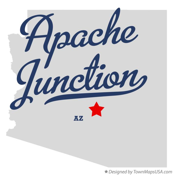 Map of Apache Junction Arizona AZ