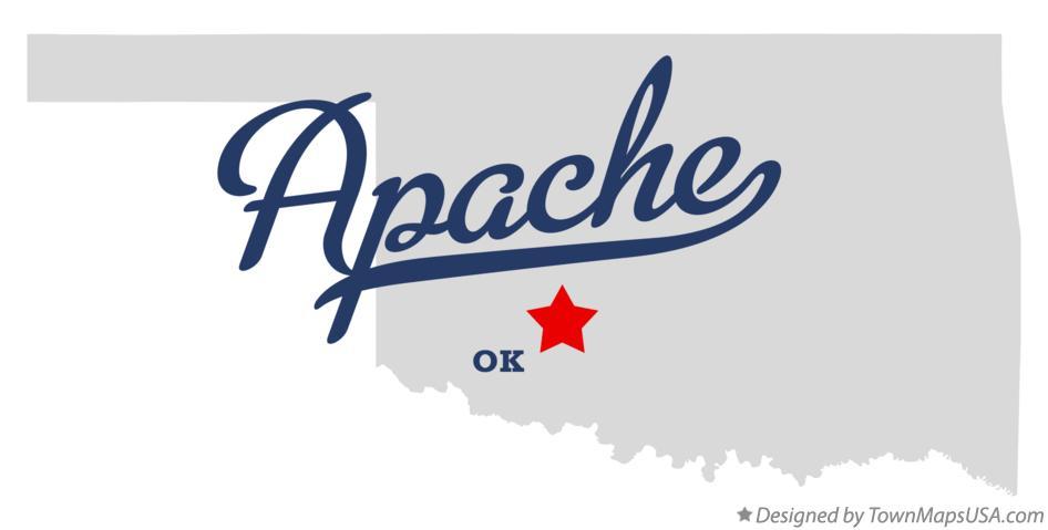 Map of Apache, OK, Oklahoma