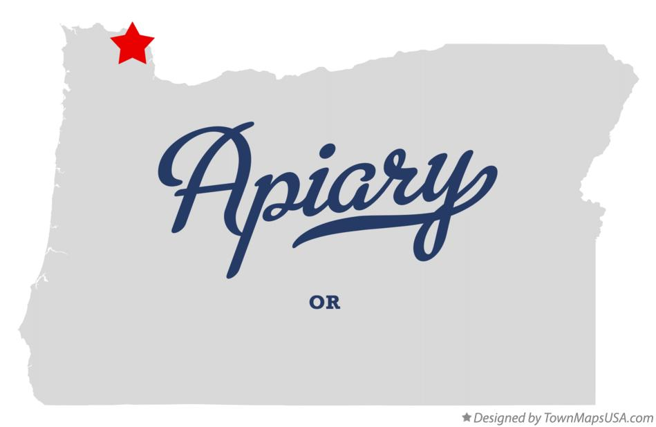 Map of Apiary Oregon OR