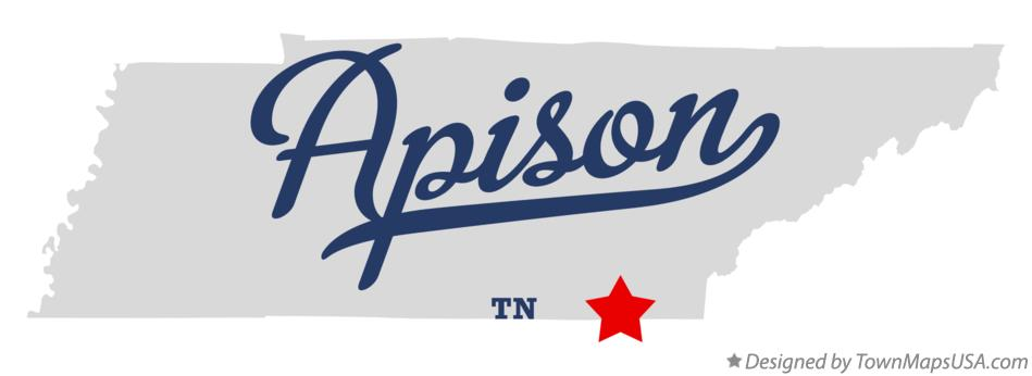 Map of Apison Tennessee TN