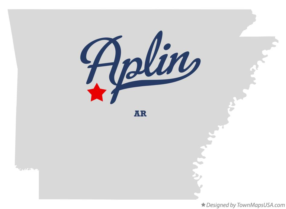 Map of Aplin Arkansas AR