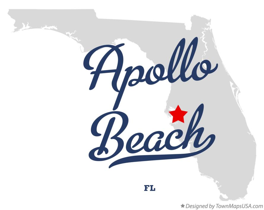 Map of Apollo Beach Florida FL