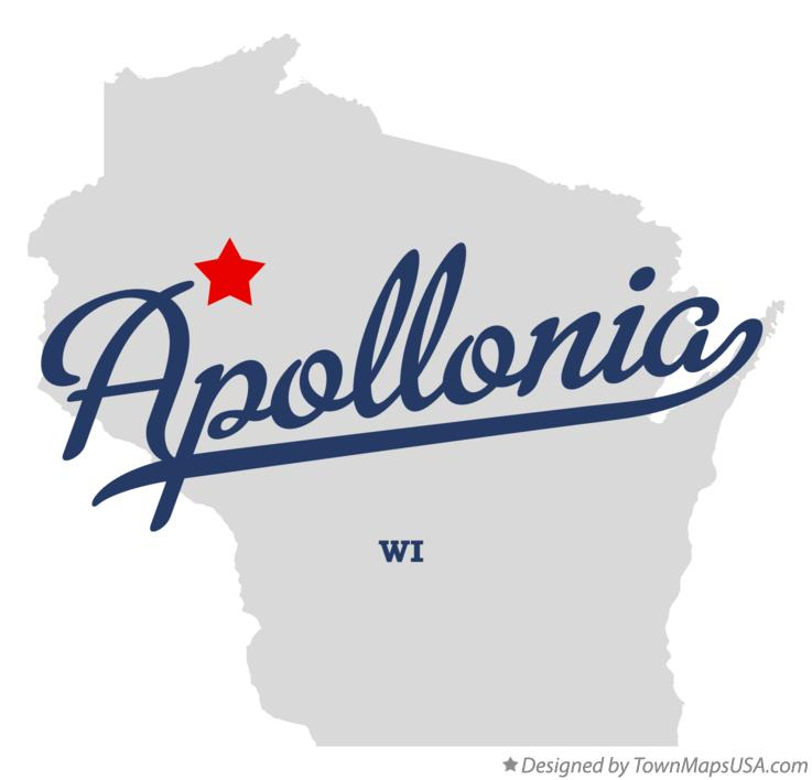Map of Apollonia Wisconsin WI