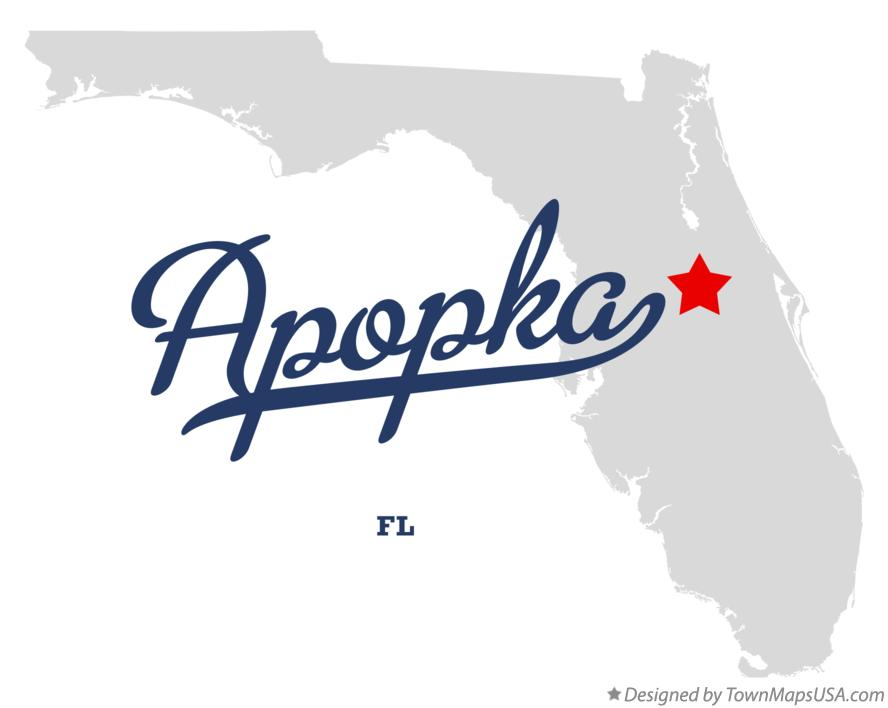 Apopka Florida Map.Map Of Apopka Fl Florida
