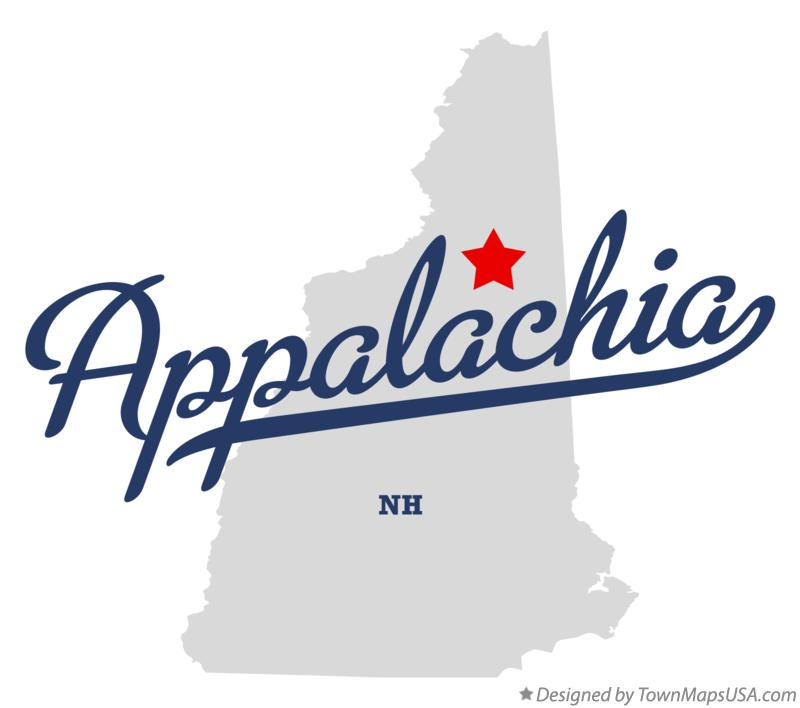 Map of Appalachia New Hampshire NH