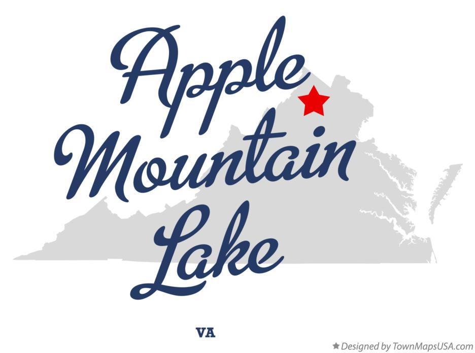 Map of Apple Mountain Lake Virginia VA