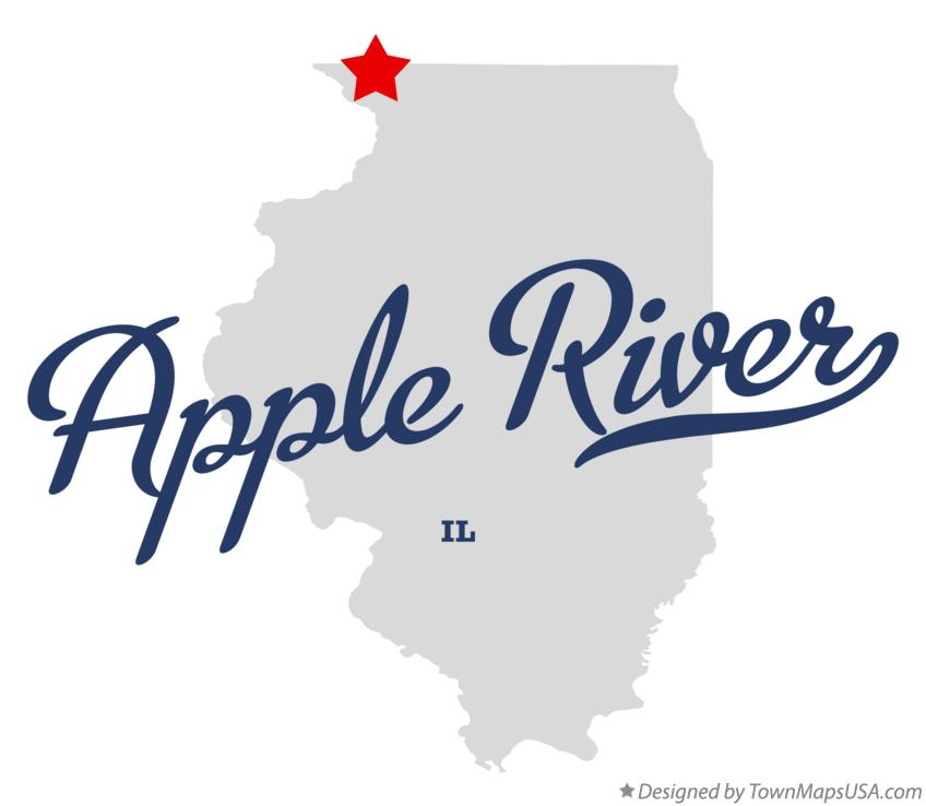 Map of Apple River Illinois IL