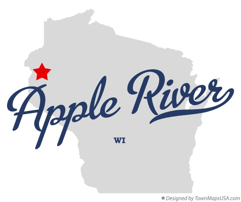 Map of Apple River Wisconsin WI