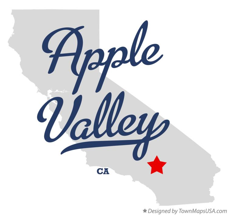 Map of Apple Valley California CA