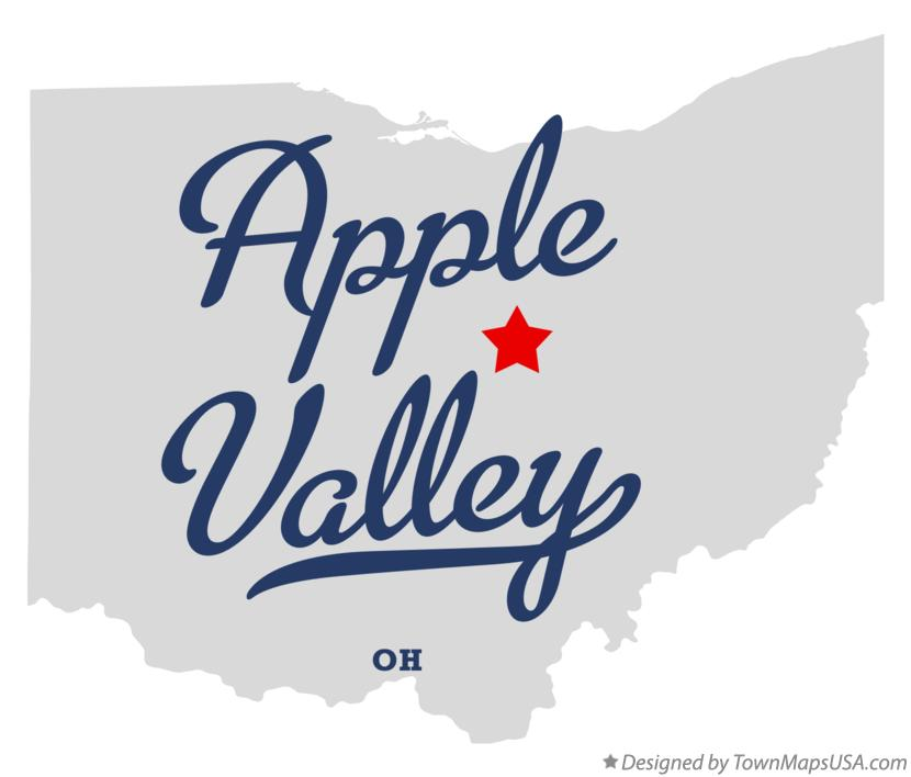 Map Of Apple Valley Oh Ohio
