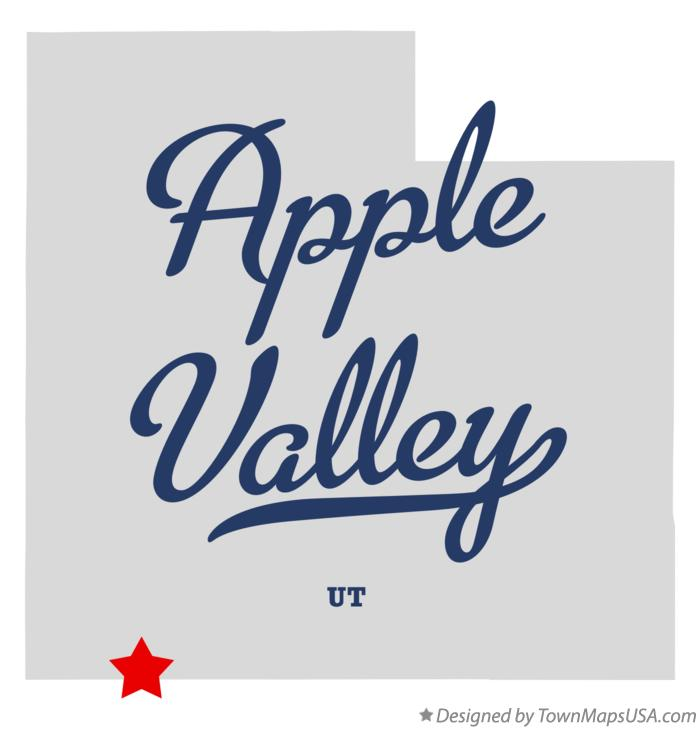 Map of Apple Valley Utah UT