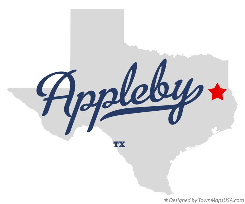 Map of Appleby Texas TX
