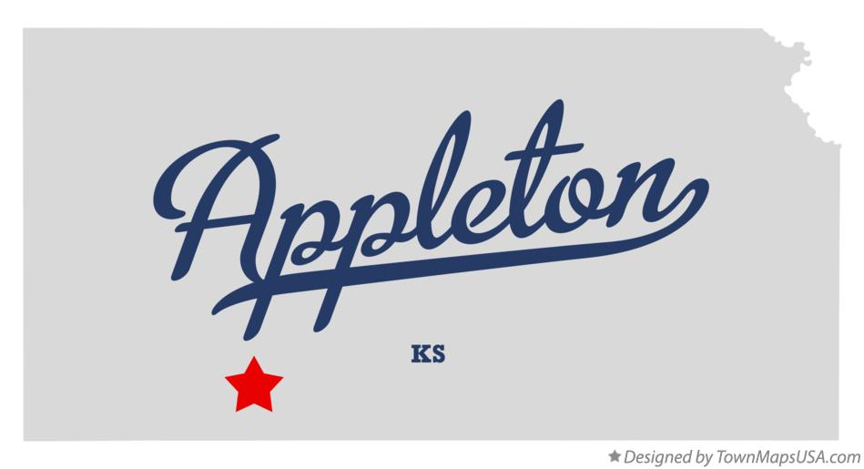 Map of Appleton Kansas KS