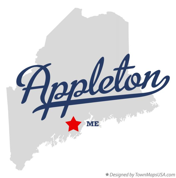 Map of Appleton Maine ME