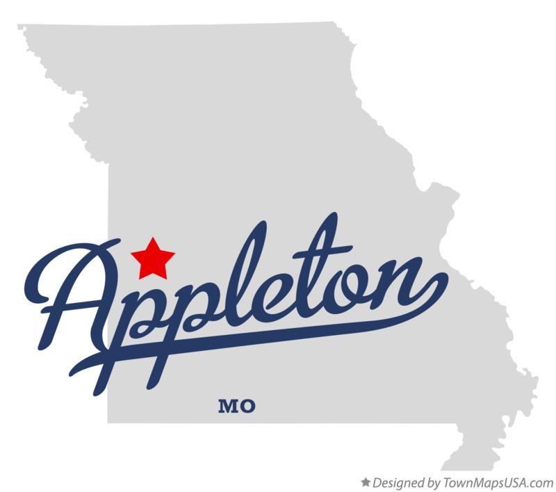 Map of Appleton Missouri MO