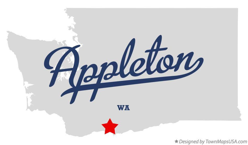 Map of Appleton Washington WA