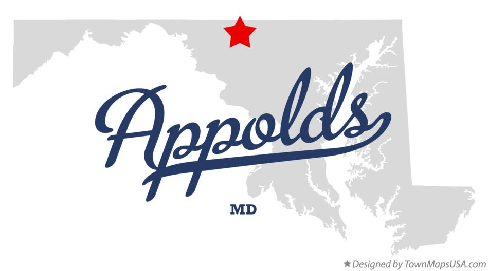 Map of Appolds Maryland MD