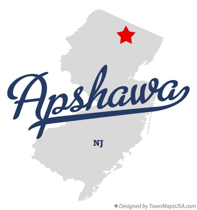Map of Apshawa New Jersey NJ