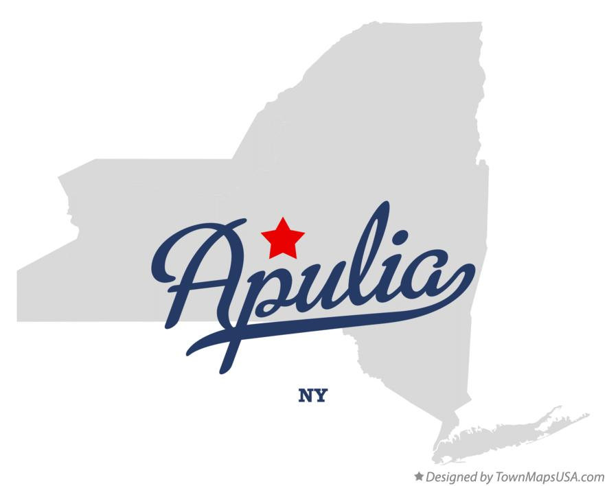 Map of Apulia New York NY