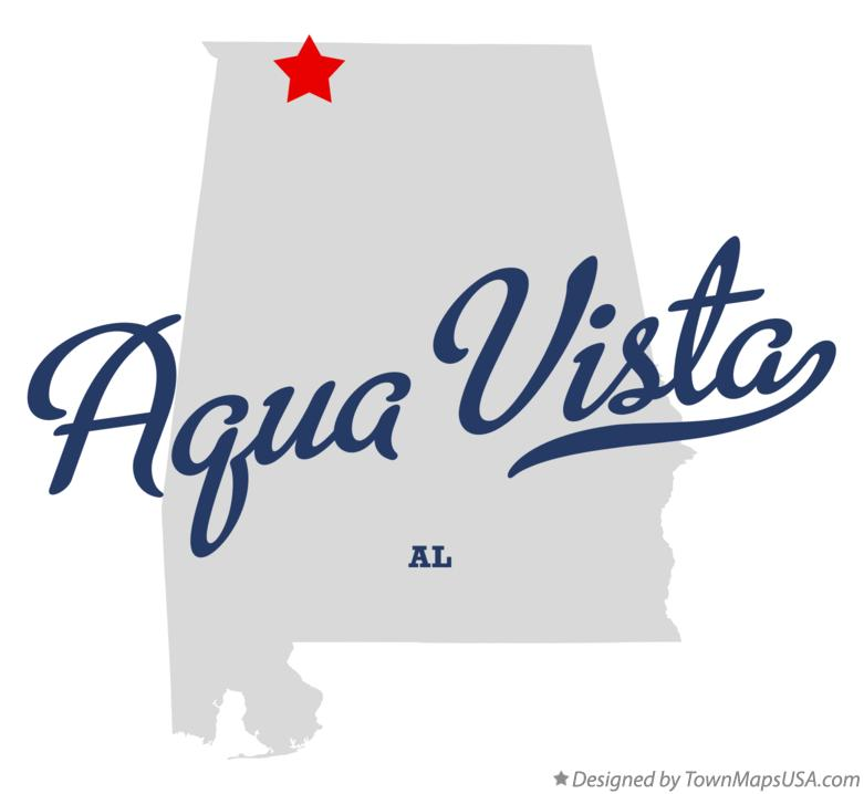 Map of Aqua Vista Alabama AL