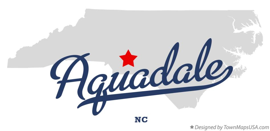 Map of Aquadale North Carolina NC