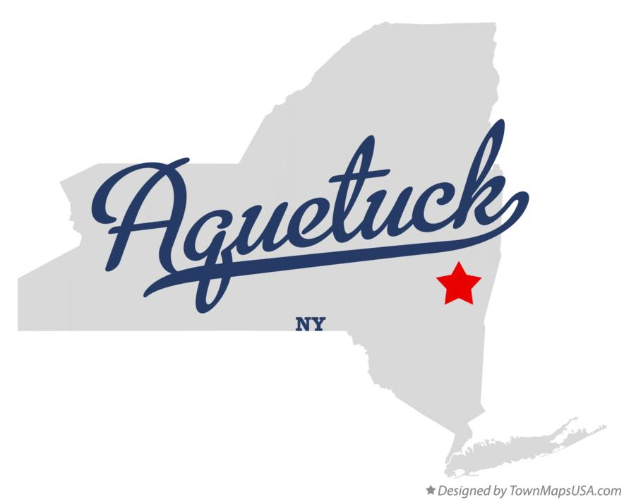 Map of Aquetuck New York NY