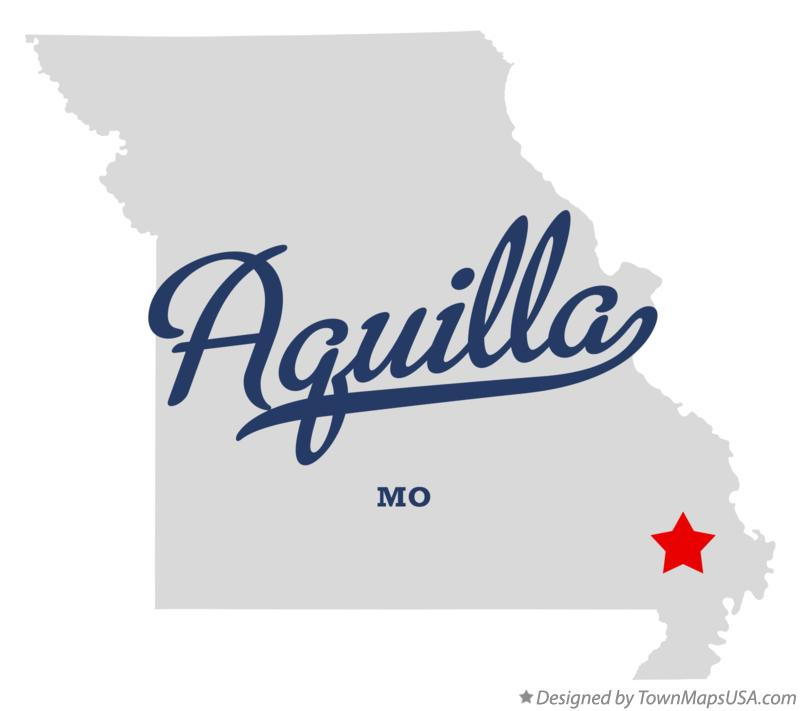 Map of Aquilla Missouri MO